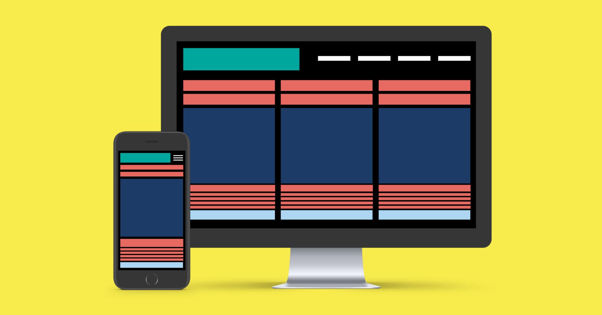 mobile-friendly content design graphic