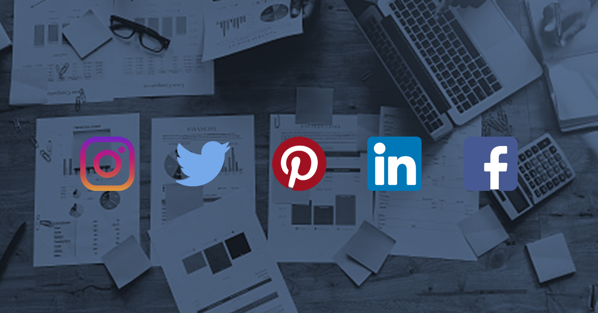 Icons for various social media platforms