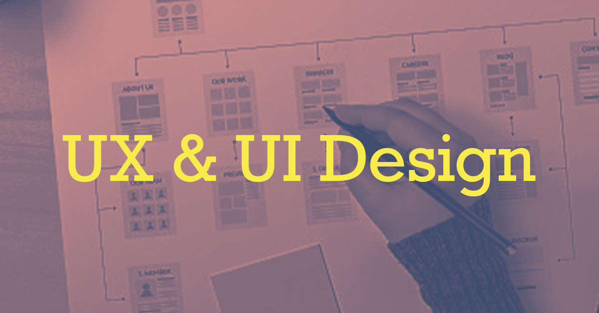 UX & UI Design in yellow text