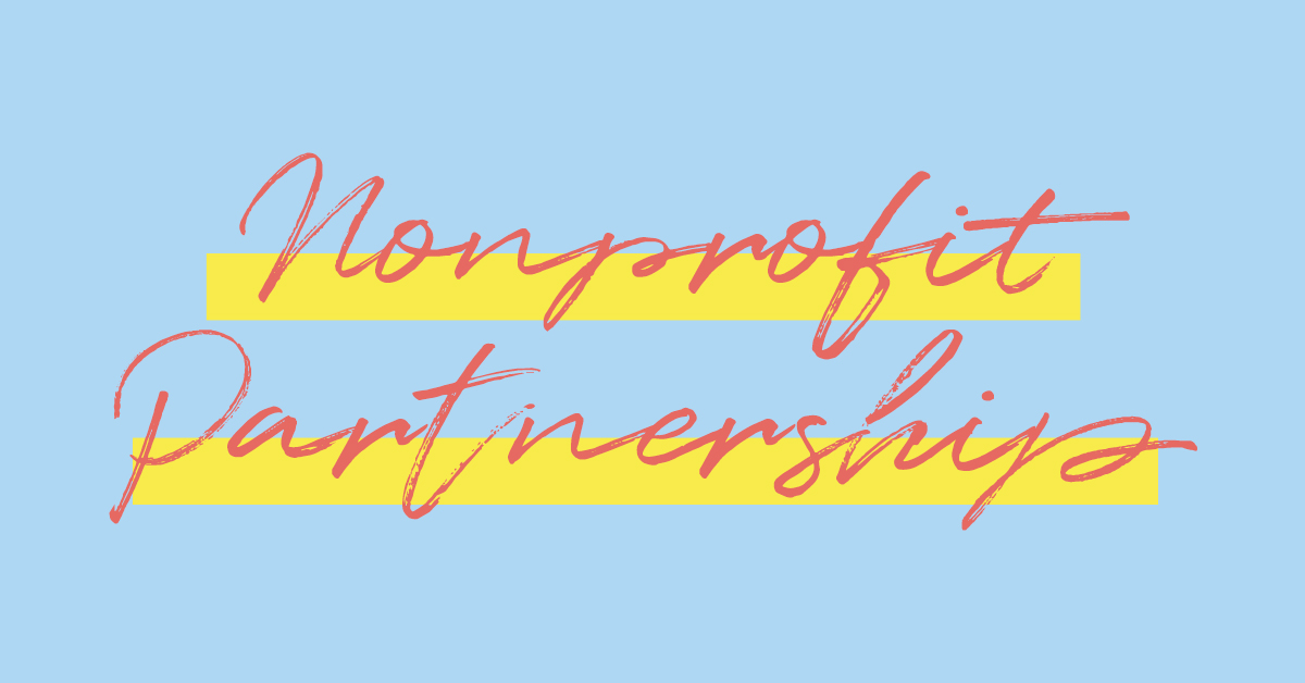 Nonprofit Partnerships in cursive