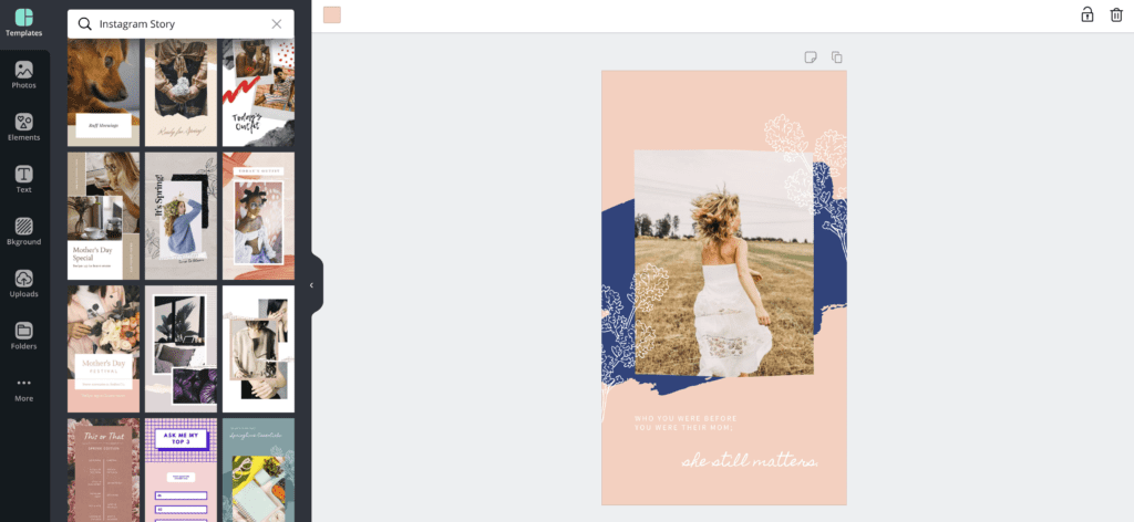 Screenshot of Canva.com showing a branded template.