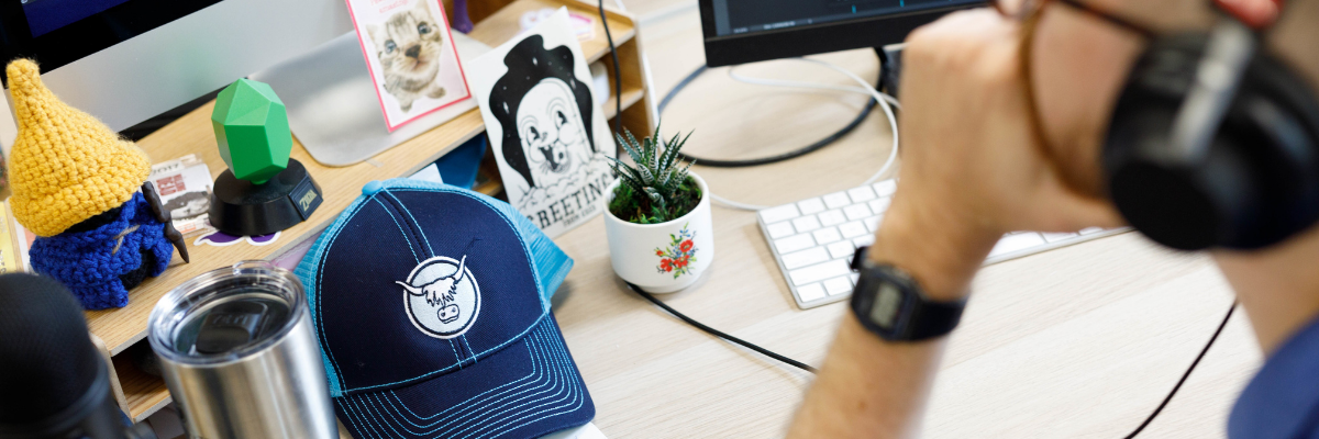 September 2020: What the Yak Pak's Talking About: Workstation with Yak hat