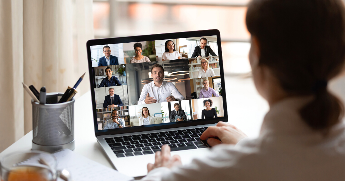 How to Host a Successful Virtual Event: Zoom Call on a Laptop