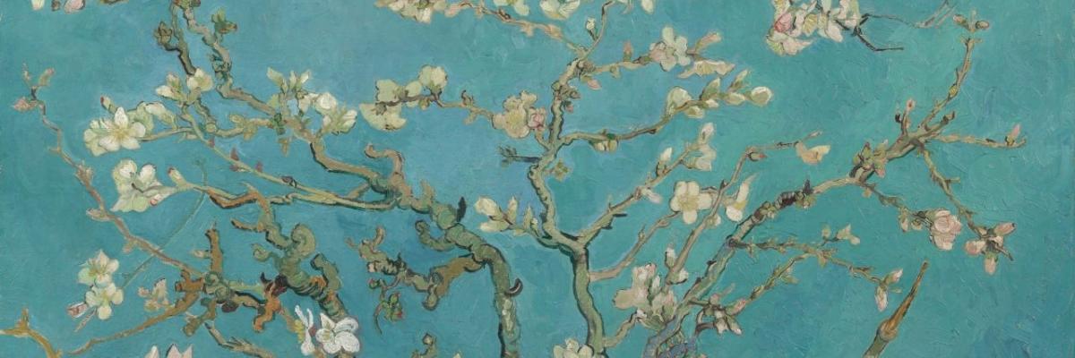 Van Gogh Background Flowers