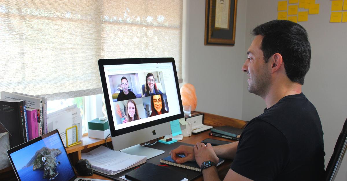 Yakkety Yak 2020: Man on Zoom Call at Desk