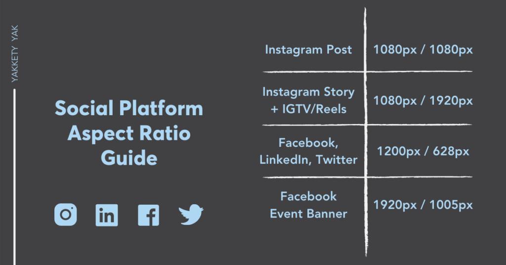 Social Platform Aspect Ratio Guide